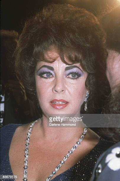 Britishborn American actress Elizabeth Taylor at the Tony Awards held in the Mark Hellinger Theatre New York Nwe York June 7 1981 Taylor had been...