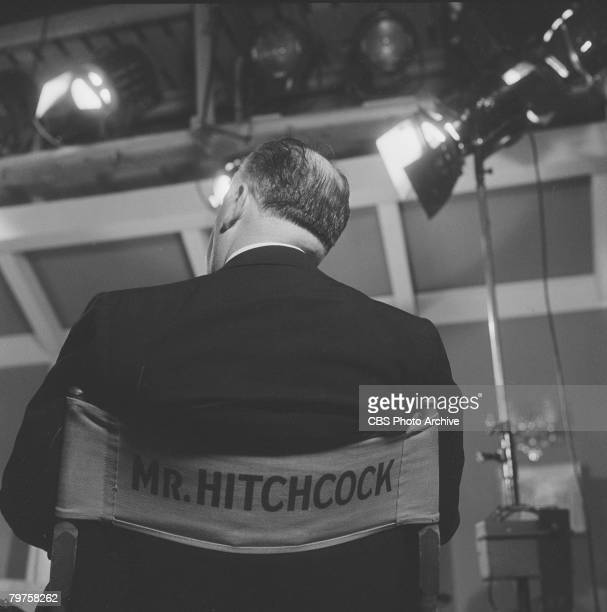 Britishborn American director Alfred Hitchcock on the set of the television anthology series 'The Alfred Hitchcock Hour' July 7 1959