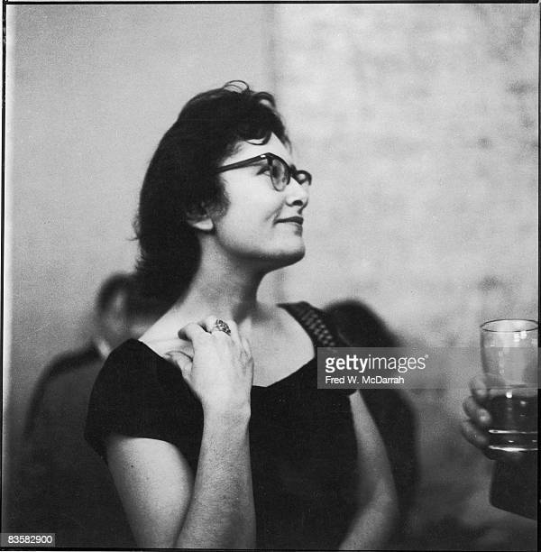 Britishborn American poet Denise Levertov attends a party at the Living Theatre New York New York November 13 1959