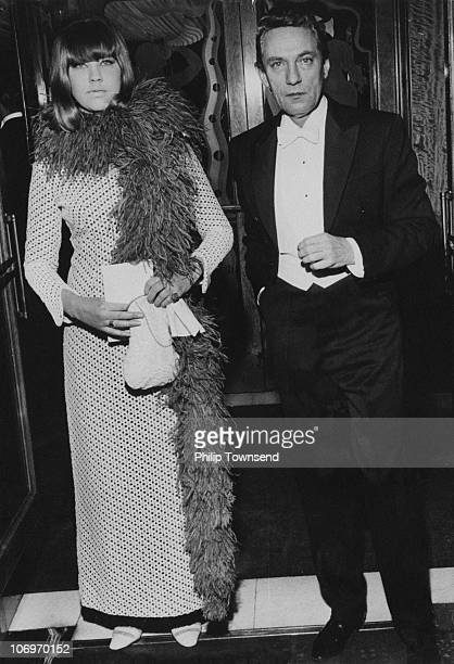 Britishborn Australian actor Peter Finch and Patricia Locke at a Royal screening of 'Lord Jim' directed by Richard Brooks London 15th February 1965