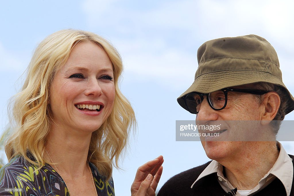 British-born Australian actress Naomi Watts and US director Woody Allen pose during the photocall of 'You Will Meet a Tall Dark Stranger' presented out of competition at the 63rd Cannes Film Festival on May 15, 2010 in Cannes.