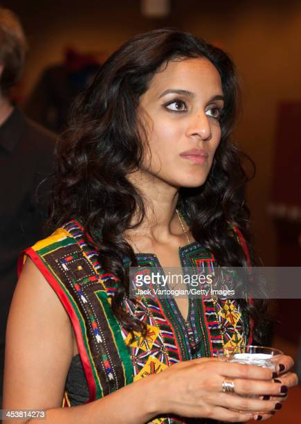Britishborn Indian musician Anoushka Shankar attends a reception after her ensemble's World Music Institute concert at New York University's Skirball...