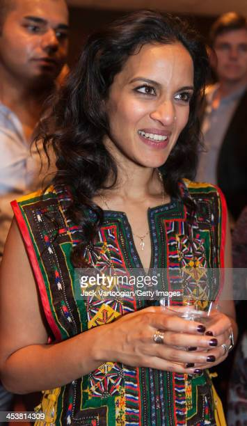 British-born Indian musician Anoushka Shankar attends a reception after her ensemble's World Music Institute concert at New York University's...