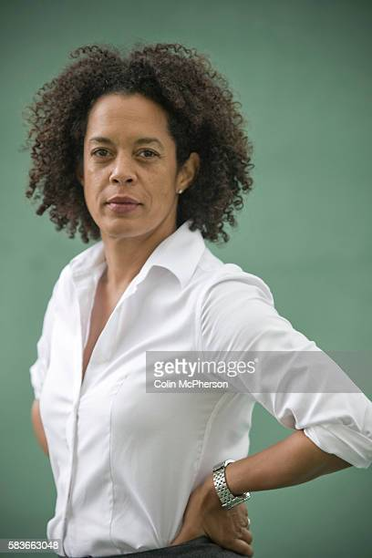 Britishborn writer Aninatta Forna pictured at the Edinburgh International Book Festival where she talked about her latest book on her life in Sierra...