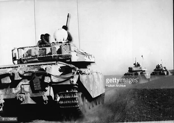 Britishbuilt Jordanian Centurion tanks arrive in the Golan Heights to support the Syrians during the Yom Kippur War October 21 1973