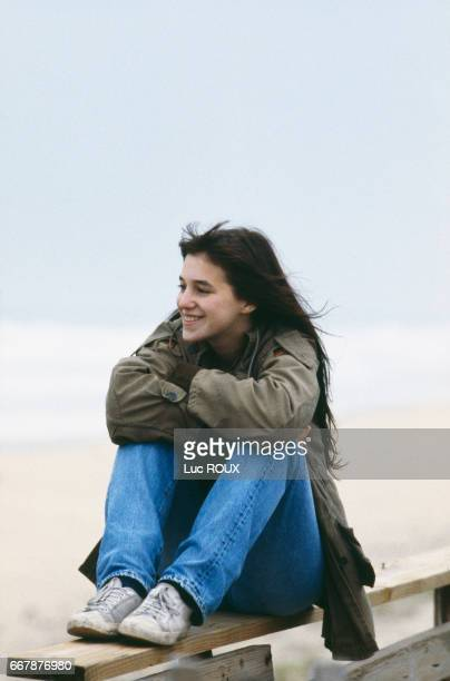 BritishFrench actress and singer Charlotte Gainsbourg on the set of Merci la Vie written and directed by Bertrand Blier