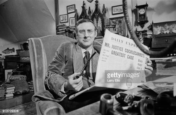BritishIrish comedian and author Spike Milligan on the set of surreal television show 'The World of Beachcomber' UK 28th January 1968