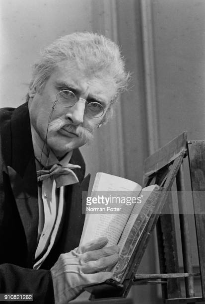 BritishIrish comedian Spike Milligan as 'Dr Strabismus' on the set of surreal television comedy show 'The World of Beachcomber' UK 13th January 1968
