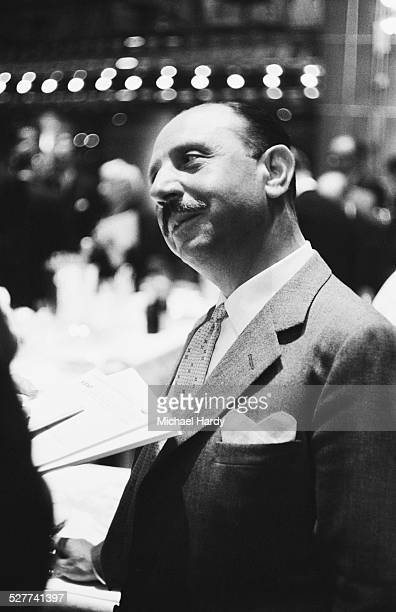 British/Italian caterer and hotelier Charles Forte Baron Forte at his 'Talk of the Town' restaurant London 19th August 1958