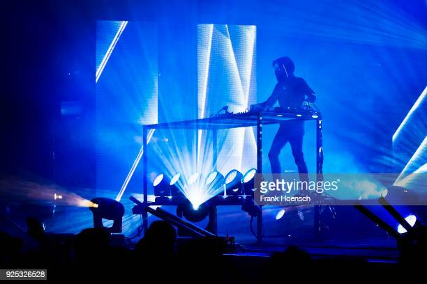 BritishNorwegian musician Alan Walker performs live during a concert at the Huxleys on February 24 2018 in Berlin Germany