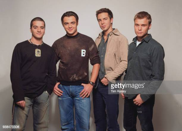 BritishNorwegian pop boy band A1 circa 2000 Paul Marazzi Ben Adams Mark Read Christian Ingebrigtsen