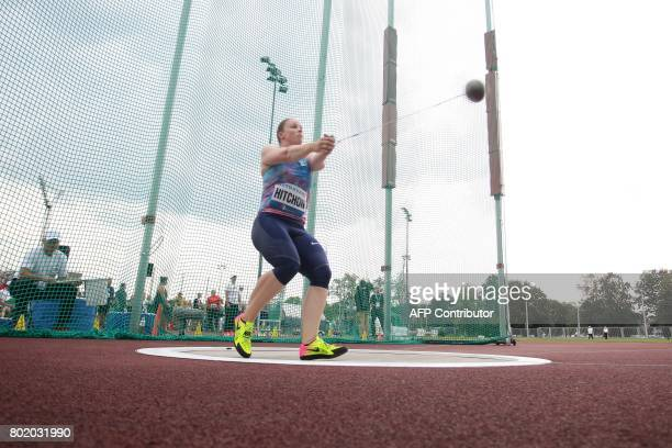 British's Sophie Hitchon throws a hammer during the Golden Spike 2017 Athletic meeting in Ostrava on June 27 2017 / AFP PHOTO / MILAN KAMMERMAYER