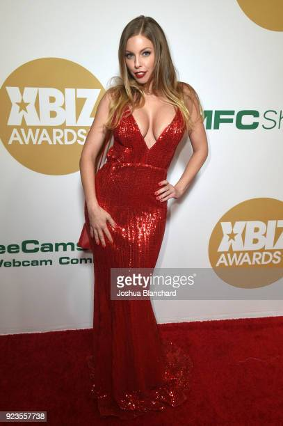 Britney Amber attends the 2018 XBIZ Awards on January 18 2018 in Los Angeles California