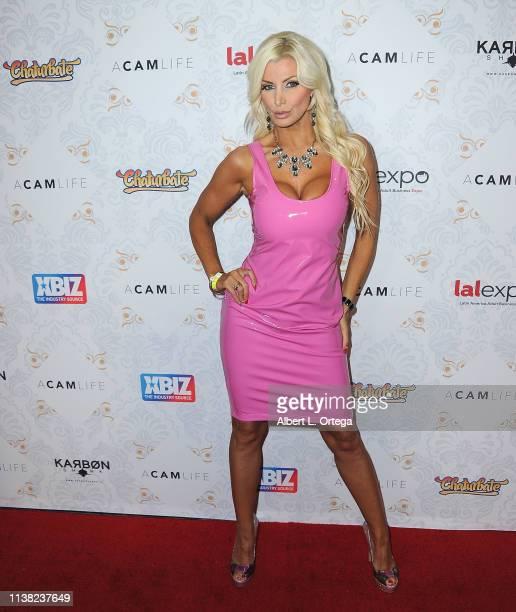 Britney Andrews arrives for the premiere of Gravitas Ventures' 'A Cam Life' held at Regal Cinemas LA Live on April 19 2019 in Los Angeles California