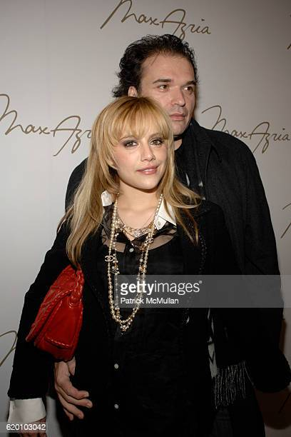 Britney Murphy and Simon Monjack attend MAX AZRIA Fall 2008 Fashion Show at The Tent on February 4 2008 in New York City