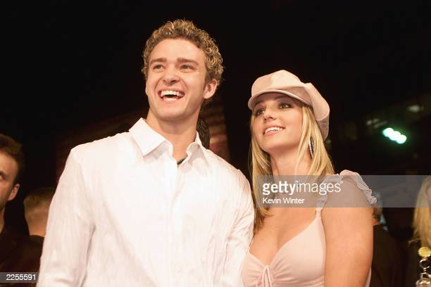 Britney Spears and boyfriend Justin Timberlake arrive at the premiere of her movie 'Crossroads' at the Mann Chinese Theatre in Hollywood Ca Feb 11...