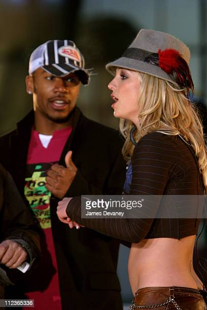 Britney Spears and Columbus Short during Britney Spears Performs on MTV's 'TRL' Brand Spankin New Music Week November 10 2003 at MTV Studios Times...