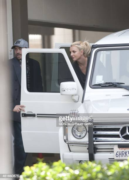 Britney Spears and David Lucado are seen on November 23 2013 in Los Angeles California