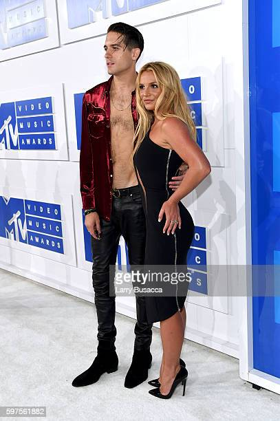 Britney Spears and G-Eazy attend the 2016 MTV Video Music Awards at Madison Square Garden on August 28, 2016 in New York City.