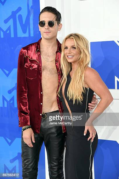 Britney Spears and GEazy attends the 2016 MTV Video Music Awards at Madison Square Garden on August 28 2016 in New York City