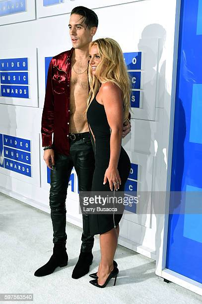 Britney Spears and G-Eazy attends the 2016 MTV Video Music Awards at Madison Square Garden on August 28, 2016 in New York City.