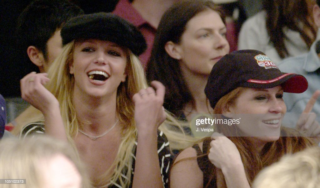 Britney Spears and guest during Mercedes-Benz Shows LA - Joey and T - Front Row and Backstage at The Standard Downtown LA in Los Angeles, California, United States.