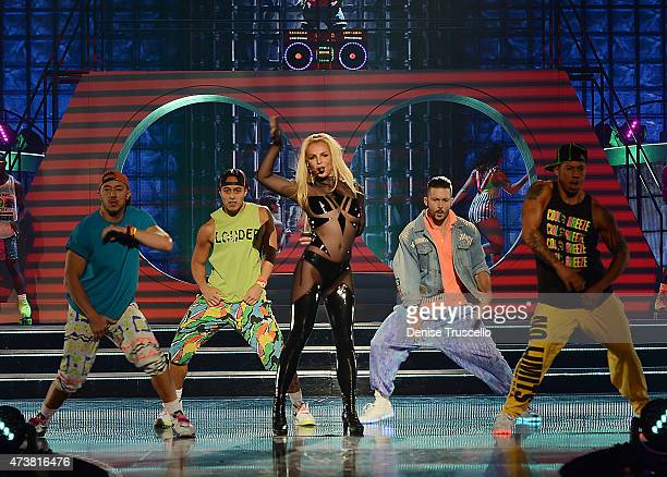 Britney Spears and Iggy Azalea perform at the 2015 Billboard Music Awards on May 15 2015 in Las Vegas Nevada The Billboard Awards will air on May 17...