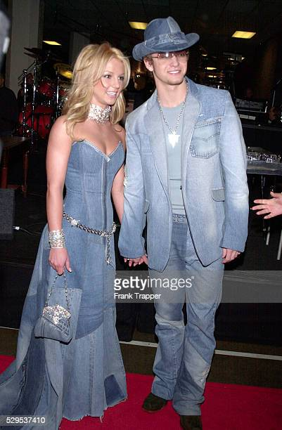 Britney Spears and Justin Timberlake arriving at the 28th annual American Music Awards held at the Shrine Auditorium