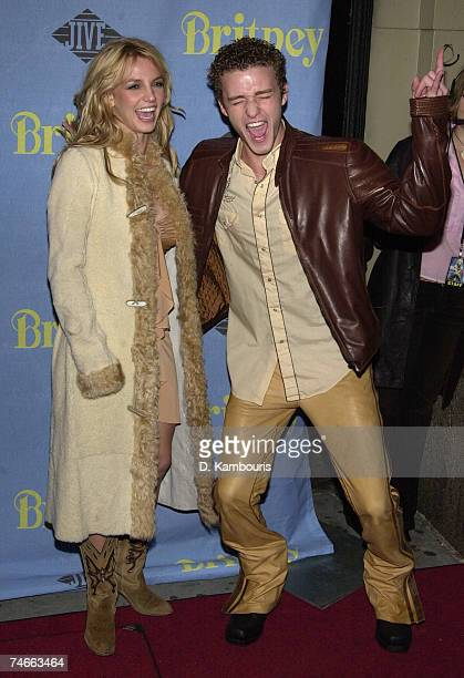 Britney Spears and Justin Timberlake at the CentroFly in New York City New York