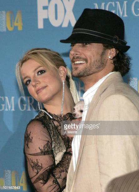 Britney Spears and Kevin Federline during 2004 Billboard Music Awards Arrivals at MGM Grand in Las Vegas Nevada United States