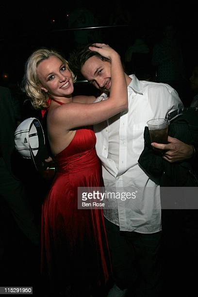Britney Spears and Kevin Federline during Belated Birthday Party for Kevin Federline with Britney Spears Hosted by Scooter Braun Inside at Vision...