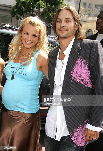 Britney Spears and Kevin Federline during Charlie and the Chocolate Factory Los Angeles Premiere Arrivals at Chinese Theatre in Hollywood California...