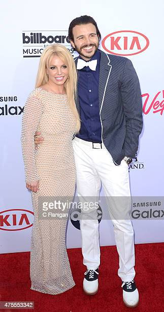 Britney Spears and producer Charlie Ebersol attend the 2015 Billboard Music Awards at MGM Grand Garden Arena on May 17 2015 in Las Vegas Nevada