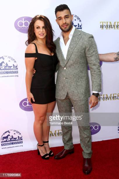 Britney Spears and Sam Asghari attend the 2019 Daytime Beauty Awards at The Taglyan Complex on September 20 2019 in Los Angeles California
