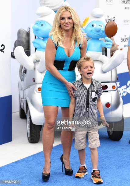 Britney Spears and Sean Preston Federline attend the 'Smurfs 2' Los Angeles premiere held at Regency Village Theatre on July 28 2013 in Westwood...