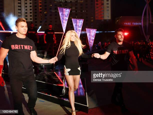 Britney Spears announces her new residency at Park Theater at Park MGM during her welcome event at Toshiba Plaza on October 18 2018 in Las Vegas...