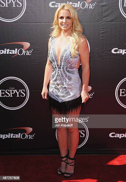 Britney Spears arrives at The 2015 ESPYS at Microsoft Theater on July 15 2015 in Los Angeles California