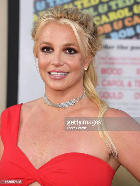 Britney Spears arrives at the Sony Pictures' Once Upon A TimeIn Hollywood Los Angeles Premiere on July 22 2019 in Hollywood California