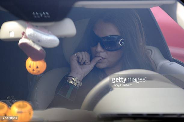 Britney Spears arrives for a hearing regarding her ongoing child custody case at the Stanley Mosk Courthouse October 26 2007 in Los Angeles California