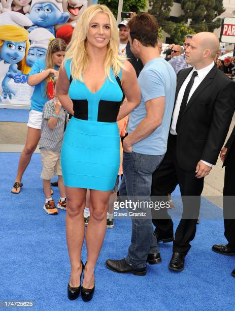 Britney Spears arrivies at the Smurfs 2 Los Angeles Premiere at Regency Village Theatre on July 28 2013 in Westwood California