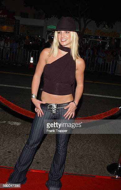 """Britney Spears arriving at the premiere of """"The Four Feathers""""."""