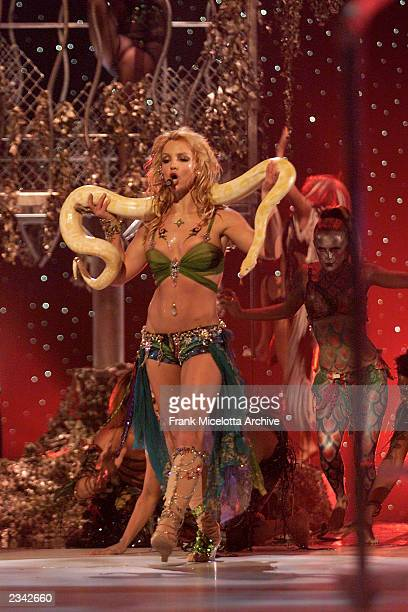 Britney Spears at the 2001 MTV Video Music Awards held at the Metropolitan Opera House at Lincoln Center in New York City 9/6/01 Photo by Frank...