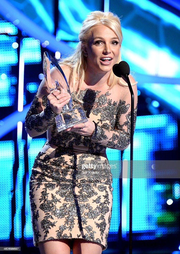 Britney Spears at the People's Choice Awards at Nokia Theatre L.A. Live on January 8, 2014 in Los Angeles, California.