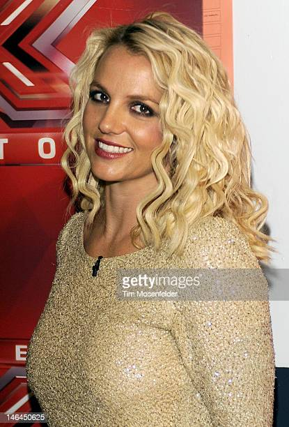 """Britney Spears attends Fox's """"The X Factor"""" Season 2 Auditions at Oracle Arena on June 16, 2012 in Oakland, California."""