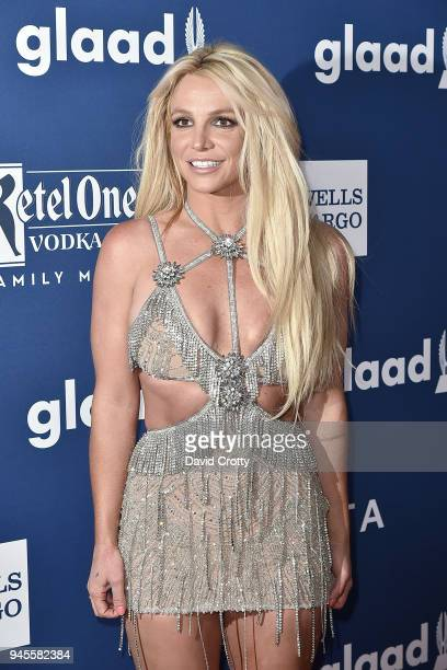 Britney Spears attends the 29th Annual GLAAD Media Awards Arrivals at The Beverly Hilton Hotel on April 12 2018 in Beverly Hills California