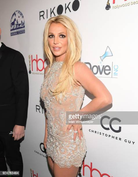 Britney Spears attends the 4th Hollywood Beauty Awards at Avalon Hollywood on February 25 2018 in Los Angeles California