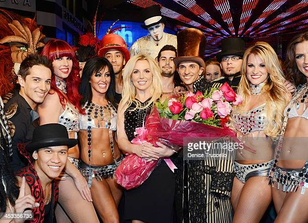 Britney Spears celebrates her official arrival at Planet Hollywood Resort Casino on December 3 2013 in Las Vegas Nevada