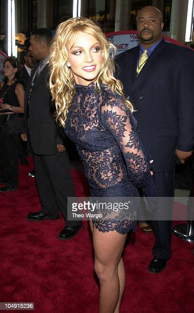 Britney Spears during 2001 MTV Video Music Awards Arrivals at The Metropolitan Opera House at Lincoln Center in New York City New York United States