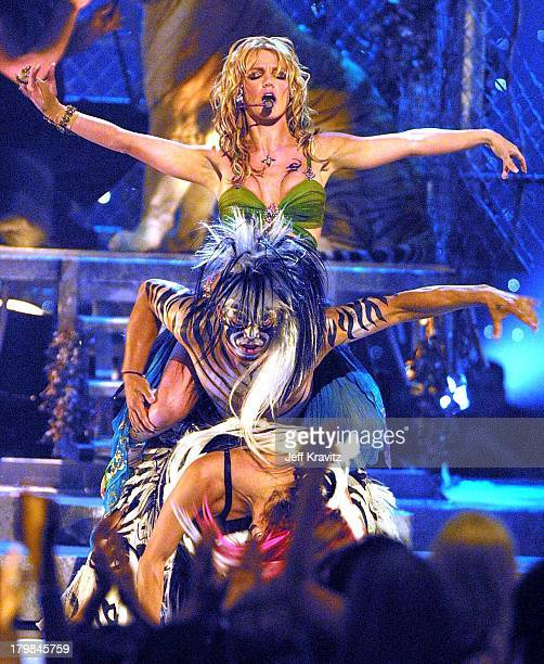 Britney Spears during 2001 MTV VMA Awards at Metropolitan Opera House in New York City New York United States