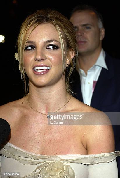 Britney Spears during Britney Spears Receives 2002 Children's Choice Award at Neil Bogart Memorial Fund's Bogart Tour for a Cure Arrivals at...